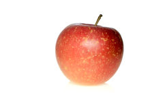 Red apple. Isolated on the white background Royalty Free Stock Image