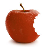 Red apple. Fresh red apple with water drops Stock Photography