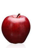 Red apple. A single red apple on white background Stock Photos