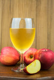 Red apple and apple juice Royalty Free Stock Photography