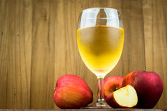 Red apple and apple juice Stock Photography