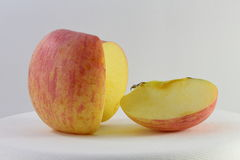 Red Apple and apple slice Royalty Free Stock Image