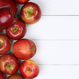 Red apple apples fruits with copyspace Stock Photography