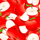 Red apple background. Illustration, EPS and AI files included Royalty Free Stock Photos