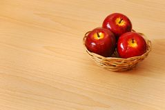 Red apple basket Royalty Free Stock Photography