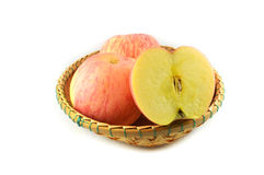 Red Apple Basket Royalty Free Stock Photo