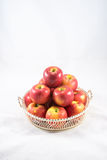 Red apple in basket Stock Image