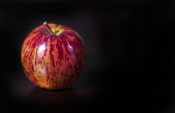 Red Apple on Black Stock Photos