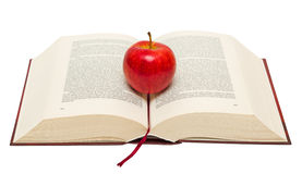 Red apple on book Royalty Free Stock Photography