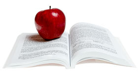 red apple on a book Royalty Free Stock Photos