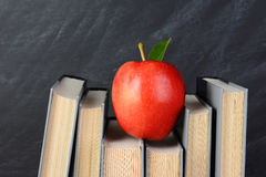 Red Apple on Books Royalty Free Stock Photo