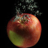 Red apple and bubbles Royalty Free Stock Photos