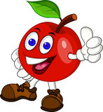Red apple cartoon character Royalty Free Stock Photography