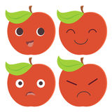 Red apple cartoon character Royalty Free Stock Photos