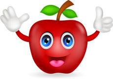 Red apple cartoon Royalty Free Stock Photos
