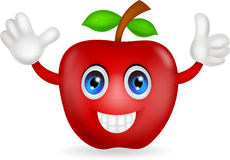 Red apple cartoon Stock Photography
