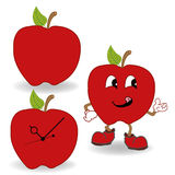 Red apple cartoon vector Stock Photography