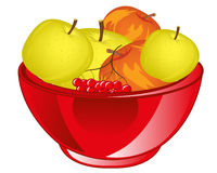 Red apple chalice Stock Photos