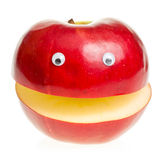 Red Apple Character. Funny fruit character Red Apple on white background Royalty Free Stock Photo