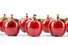 Red apple Christmas decoration Royalty Free Stock Photography