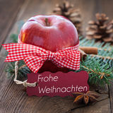 Red apple for christmas Royalty Free Stock Images