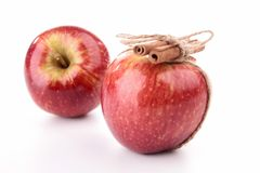Red apple and cinnamon Stock Photography