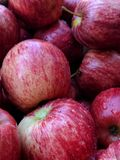 Red Apple close-up.Apples background Stock Photography