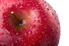 Red apple closeup Stock Photo