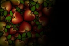 Red Apple Clovers 3D Stock Photo