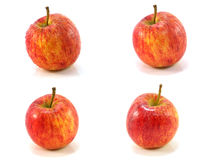Red apple collage isolated on white Stock Photo