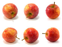 Red apple collage isolated on white Royalty Free Stock Image