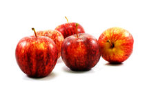 Red apple collage on white background Stock Photos