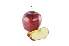 Red apple concept for healthy diet and body weight control. Stock Photos