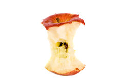 Red apple core Royalty Free Stock Photos