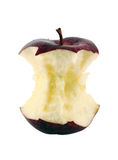 Red apple core. On a white background  with a clipping path Royalty Free Stock Image