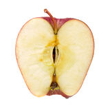 Red apple cut in half Royalty Free Stock Photo