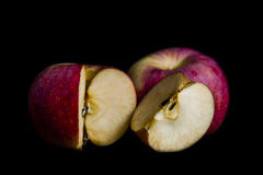 Red apple in dark Royalty Free Stock Photography