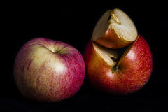 Red apple in dark Royalty Free Stock Images