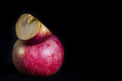 Red apple in dark Royalty Free Stock Photos