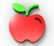 Red apple design 3D Royalty Free Stock Photography