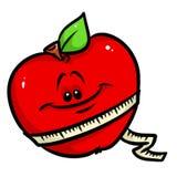 Red apple diet cartoon Royalty Free Stock Photo
