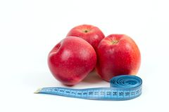 Red apple diet Stock Photo