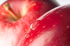 Red apple with drop. Stock Image