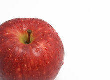 Red apple with drops Royalty Free Stock Image