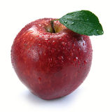 Red apple with drops Royalty Free Stock Photo