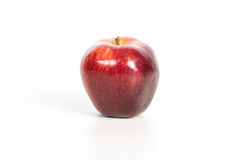 Red apple fitnes concept with centimeter. Royalty Free Stock Image