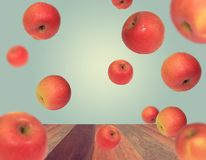 Red Apple Floating Royalty Free Stock Photography