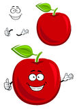 Red apple fruit character showing thumb up Stock Photography
