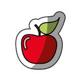 Red apple fruit icon stock. Illustration desing Stock Photo