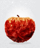 Red apple geometric shape. Stock Photo